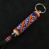 Broncos Beaded Keychain