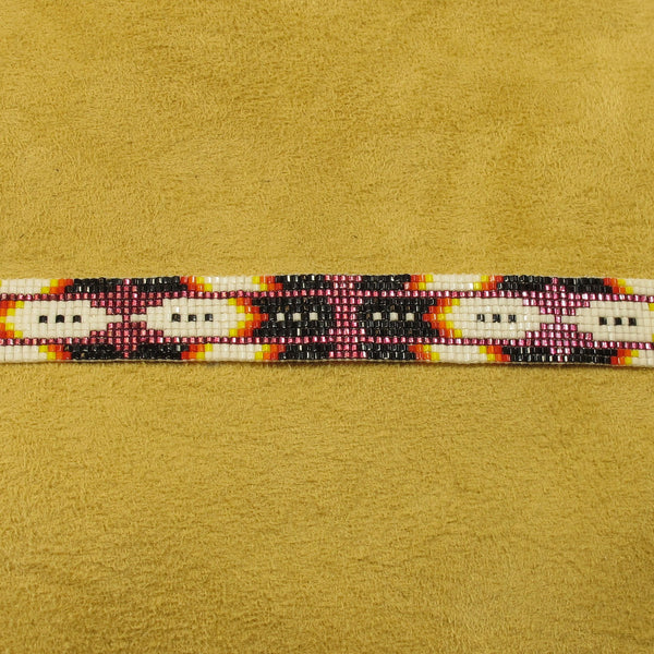 Feathered Beaded Hatband