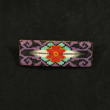 Purple Beaded Barrette
