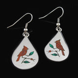 Zuni Red Bird Earrings