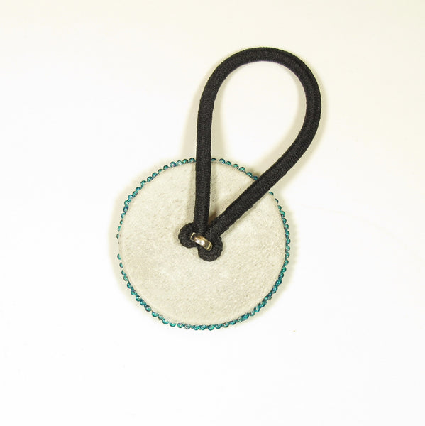 Teal Beaded Pony Tail Holder