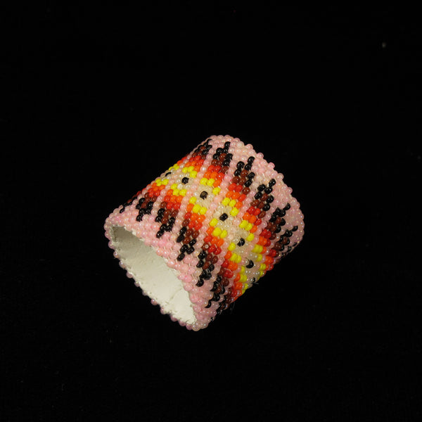 Pink Beaded Scarf Slide/Holder