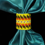 Yellow Beaded Scarf Slide/Holder