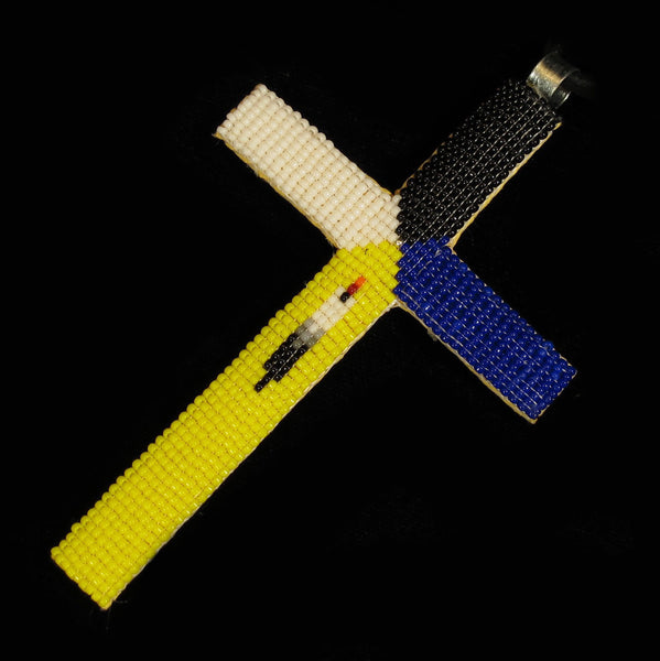Multi-Color Beaded Cross