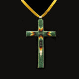 Green Beaded Cross