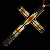 Black Beaded Cross