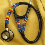 Periwinkle Blue Beaded Stethoscope