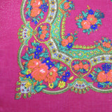 Metallic Fuchsia Decorative Border Scarf
