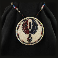 Beaded Water Bird Necklace