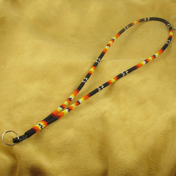 Multi-Color Beaded Lanyard