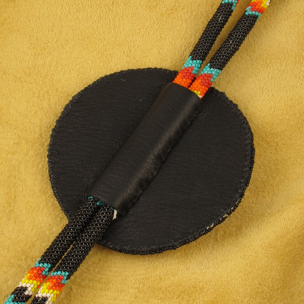 Black and Turquoise Bolo Tie