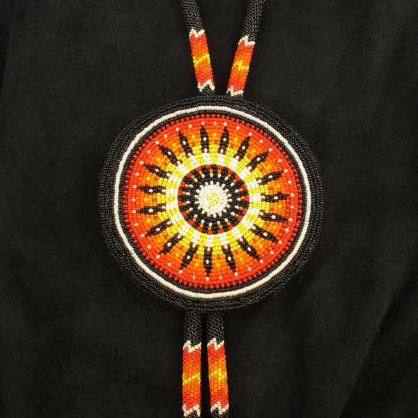 Black and Orange Bolo Tie