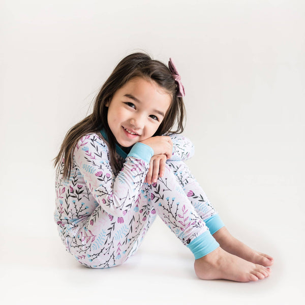 Little Sleepies - Wildflower Two-Piece Bamboo Pajama Set