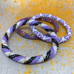 Liftedhope Bracelets - 3 pcs purple set. random design of our popular purples
