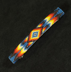 Blue Multi-Color Beaded Barrette