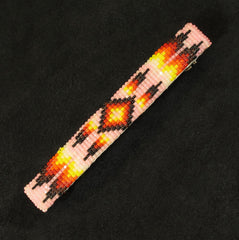 Pink Multi-Color Beaded Barrette