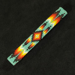 Turquoise Multi-Color Beaded Barrette
