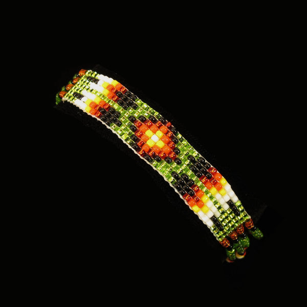 Green Loom Made Bracelet