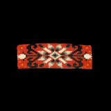Red Floral Beaded Barrette