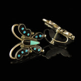 Vintage Butterfly Screw Back Earrings