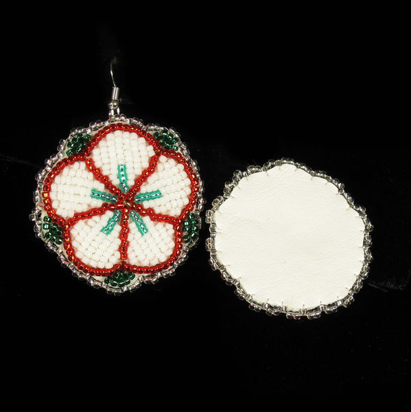Flower Beaded Earrings