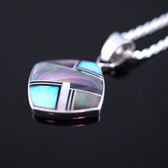 Black Tahitian Mother of Pearl Inlay Pendant