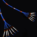 Royal Blue and Red Fully Beaded Bolo Tie
