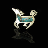 Native Turquoise Pony Pin