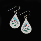 Blue Bird Earrings