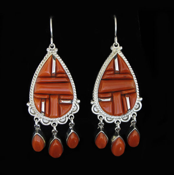 Coral Chandelier Earrings