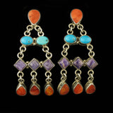 Navajo Multi Stone Earrings