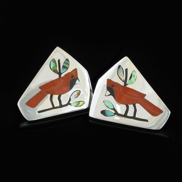 Red Bird Earrings