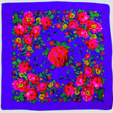 Big Rose Non-Metallic Purple Scarf