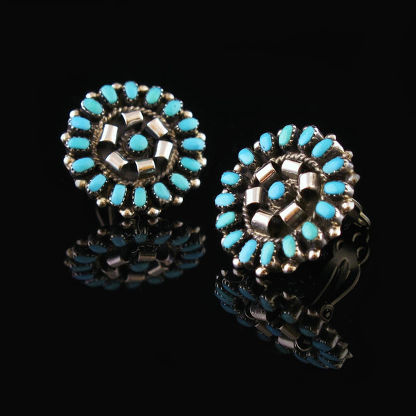 Clip On Turquoise Earrings