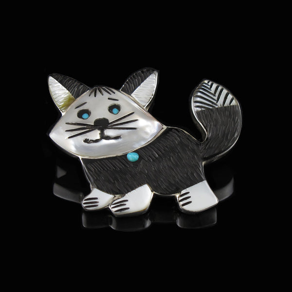Zuni Cat Pin Pendant