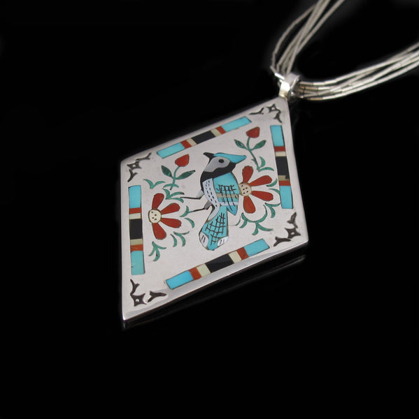Zuni Blue Bird Pendant