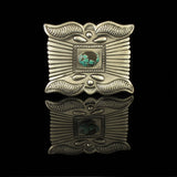 Hand Crafted Turquoise Belt Buckle