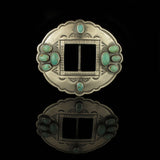 Kingman Turquoise Belt Buckle