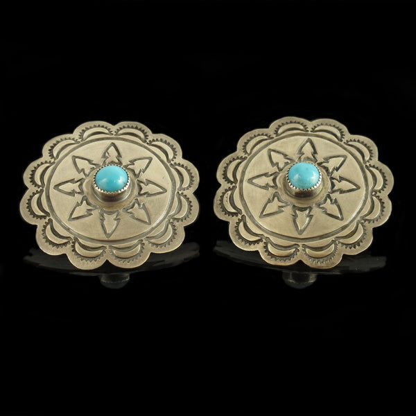 Navajo Concho Style Earrings