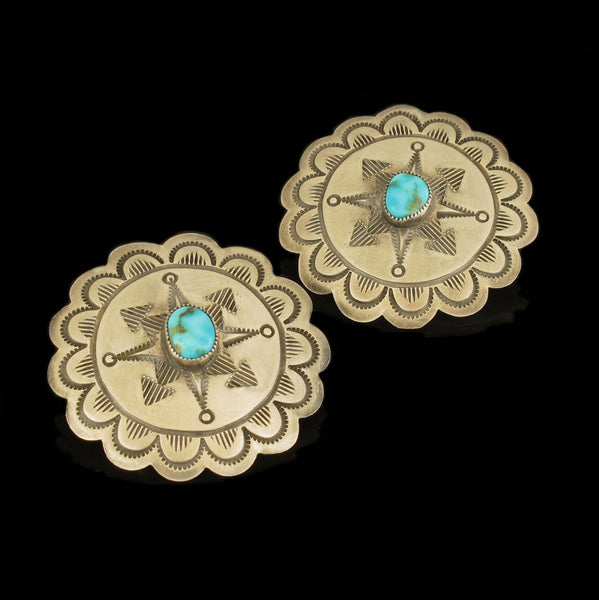 Concho Style Earrings