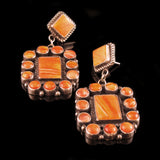 Navajo Spiny Oyster Shell Earrings
