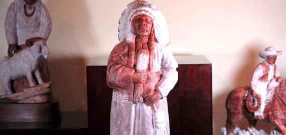 """Chief Brown"" Sculpture"