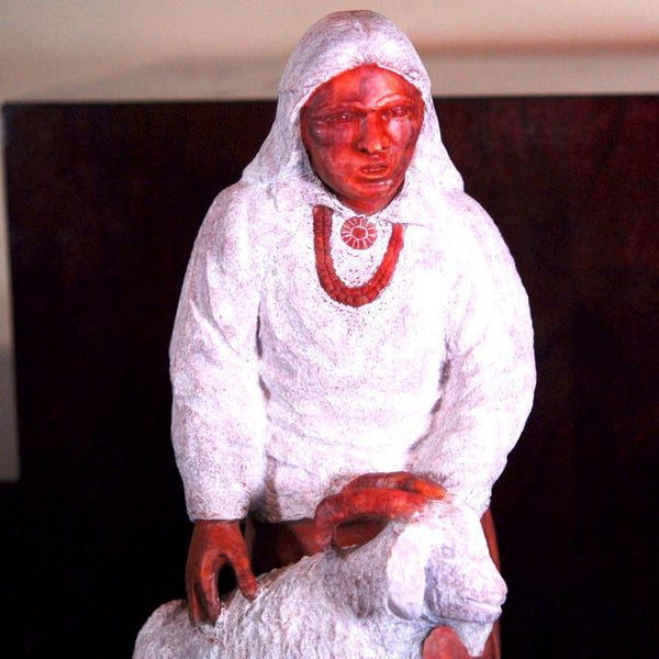 """Girl Goat Brown"" Sculpture"