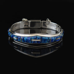 Azurite Chrysocolla Bangle Bracelet