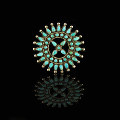 Vintage Hand Made Turquoise Pin