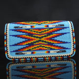 Beaded Feather Check Book Cover
