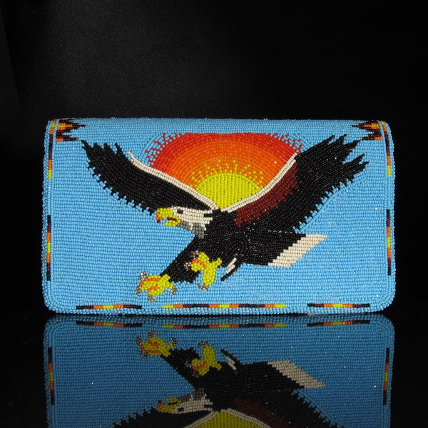 Beaded Eagle Check Book Cover