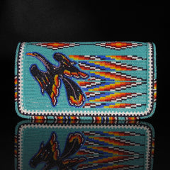 Beaded Water Bird Check Book Cover