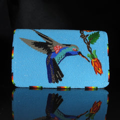 Beaded Humming Bird Check Book Cover