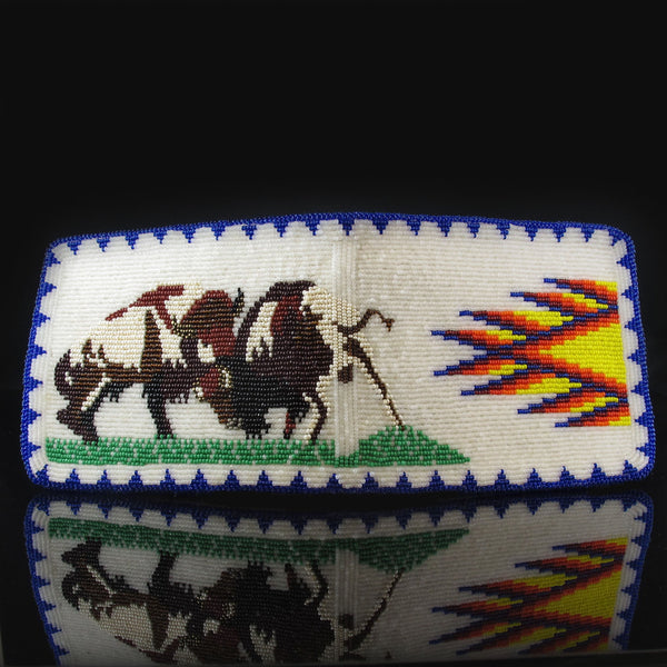 Beaded Buffalo Mens Wallet